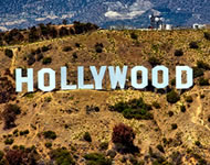 Hollywood sign in Los Angeles, CA, USA