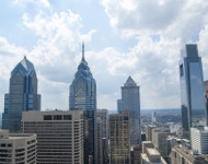 Skyline of Philadelphia, PA, USA