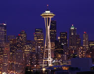 Space Needle in Seattle, WA, USA